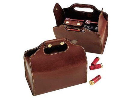 Galco 4 Box Shot Shell Ammunition Carrier Leather Brown