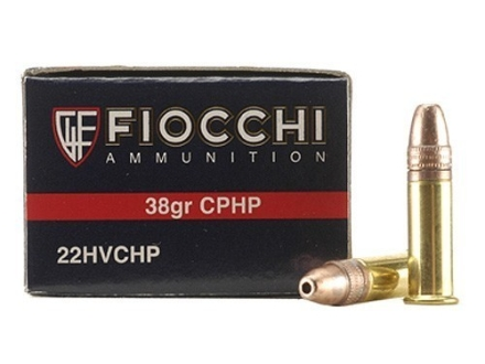 Fiocchi Ammunition 22 Long Rifle 38 Grain Plated Lead Hollow Point