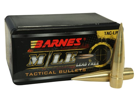 Barnes TAC-LR Bullets 50 BMG (510 Diameter) 750 Grain Spitzer Boat Tail Lead-Free Box of 20
