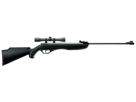 Crosman Phantom Air Rifle .177 Caliber Polymer Stock Black Blue Barrel with Scope 4x32mm