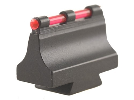 "Williams Fire Sight Rifle Bead .570"" Height, .340"" Width Steel Blue 3/32"" Fiber Optic Red"