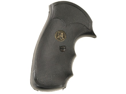 Pachmayr Gripper Grips with Finger Grooves S&W J-Frame Square Butt Rubber Black