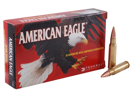 Federal American Eagle Ammunition 308 Winchester 150 Grain Full Metal Jacket