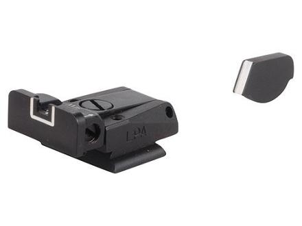 LPA SPR Sight Set Ruger P90, P91, P93, P94, P95, P97 Steel White Outline