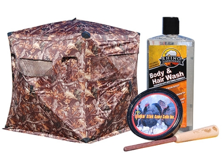 Rhino Rut N Strut Ground Blind Combo Polyester Realtree Timber Camo