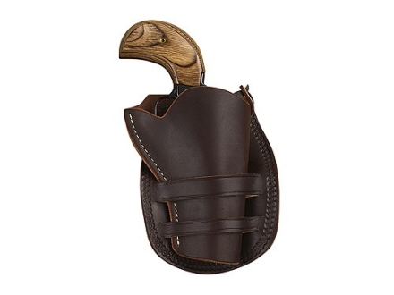 "Hunter 1094 Sheriff's Model Holster Right Hand Colt Single Action Army, Ruger Vaquero 3"" Barrel Leather Antique Brown"