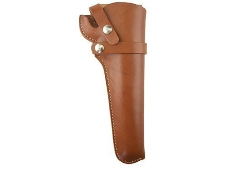"Hunter 1100 Snap-Off Belt Holster Right Hand 6.5"" Barrel Ruger Blackhawk Leather Brown"