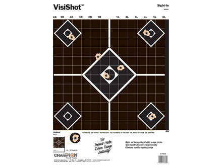 "Champion VisiShot Sight-In Target 13"" x 18"" Paper Package of 10"