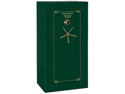 Stack-On Premier 24-Gun Fire-Resistant and Waterproof Safe with UL Rated Combination Lock High Gloss Hunter Green