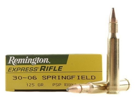 Remington Express Ammunition 30-06 Springfield 125 Grain Pointed Soft Point Box of 20