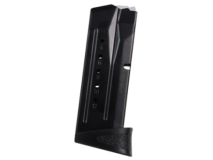 Smith & Wesson Magazine S&W M&P Compact 9mm Luger 12-Round with Finger Rest Steel Blue