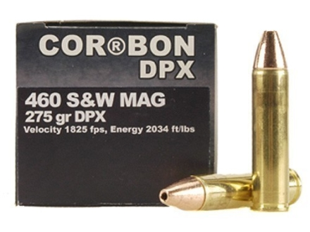 Cor-Bon Hunter Ammunition 460 S&W Magnum 275 Grain DPX Hollow Point Lead-Free Box of 20
