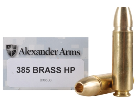 Alexander Arms Ammunition 50 Beowulf 385 Grain Millennium Solid Brass Hollow Point Box of 20