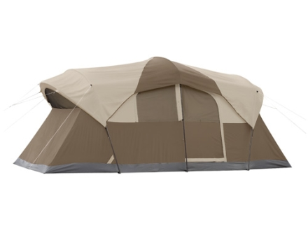 "Coleman WeatherMaster 10 Man Cabin Tent 204"" x 108"" x 80"" Polyester Gray and Tan"