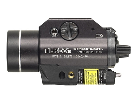 Streamlight TLR-2S Tactical Strobing Weaponlight White LED with Laser fits Picatinny and Glock Rails Aluminum Matte