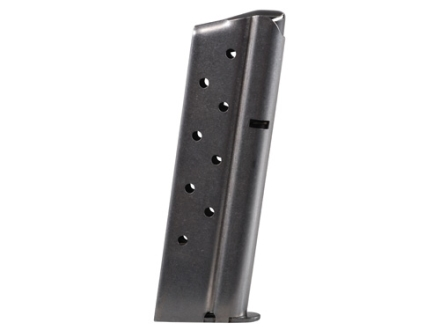 Metalform Magazine 1911 Government, Commander 38 Super 9-Round Stainless Steel Matte Round Follower Welded Base