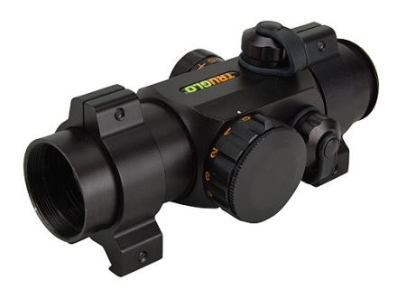 TRUGLO Xtreme Red Dot Sight 1x 25mm Red and Green 4-Pattern Reticle (10 MOA Dot, Crosshair with 1.5 MOA Peep, 3 MOA Center Dot, Crosshair) with Weaver-Style Rings Matte