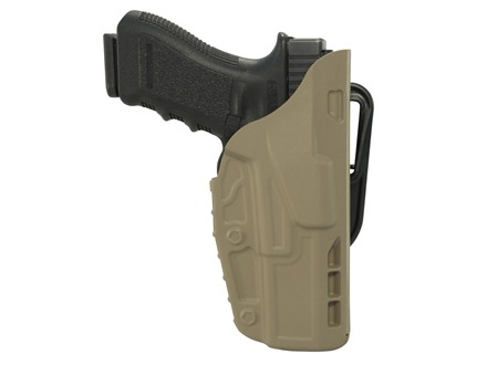 Safariland 7377 7TS ALS Concealment Belt Slide Holster Left Hand Polymer Glock 26, 27 FDE Brown