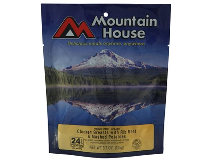 Mountain House Chicken Breasts & Mashed Potatoes Freeze Dried Food 3 Servings