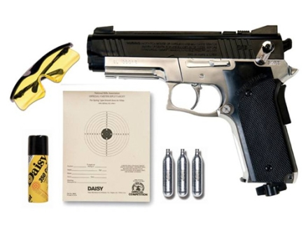 Daisy Powerline 693 CO2 Air Pistol Kit 177 Caliber Black and Nickel