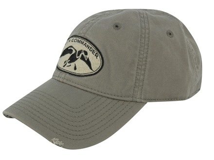 Duck Commander Distressed Logo Cap Cotton Olive