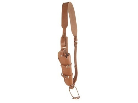 "Hunter 68-200 Scoped Pistol Bandolier Holster Right Hand Single-Action Revolvers 6.5"" Barrel Leather Brown"
