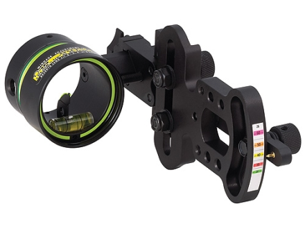 "HHA Sports Optimizer Lite OL-5519 1-Pin Bow Sight .019"" Pin Diameter Right Hand Aluminum Black"