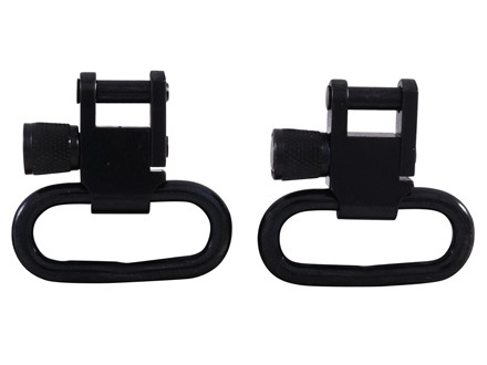 "GrovTec Sling Swivel Studs with 1"" Locking Swivels Set with Machine Screw Forend Steel Black"