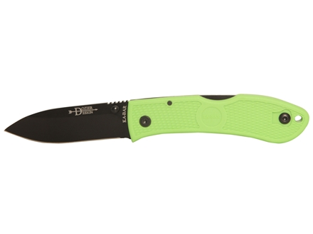 "KA-BAR Dozier Thumb Notch Folding Knife 3"" Clip Point AUS 8A Stainless Steel Blade Zytel Handle"