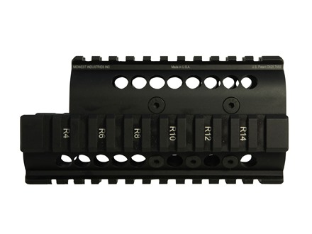 Midwest Industries 2-Piece Handguard Quad Rail Yugo Krinkov AK-47 Aluminum Black