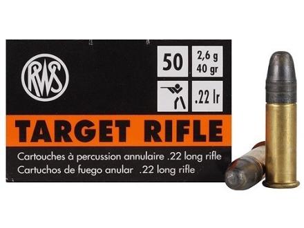 RWS Target Rifle Ammunition 22 Long Rifle 40 Grain Lead Round Nose
