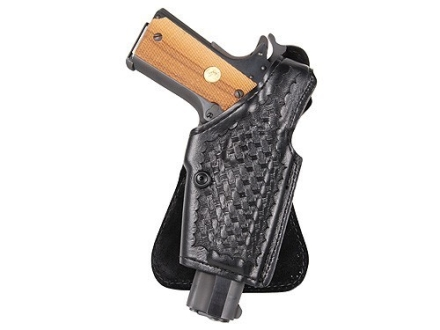 Safariland 518 Paddle Holster Right Hand 1911 Officer, Kahr K9, K40, P9, P40, MK9, MK40 Basketweave Laminate Black