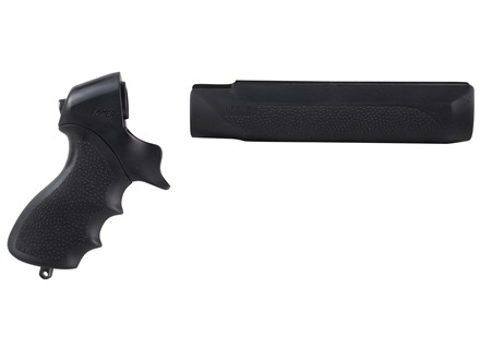 Hogue Rubber OverMolded Tamer Pistol Grip and Forend Mossberg 500 12, 20 Gauge Synthetic Black