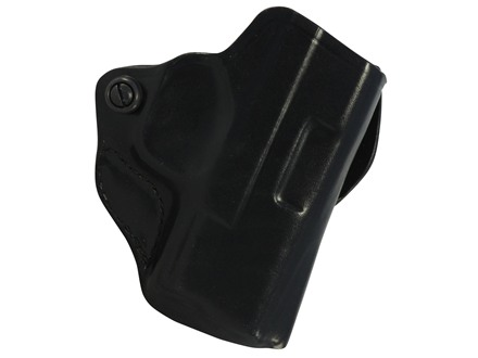 DeSantis Mini Scabbard Outside the Waistband Holster Right Hand Springfield XDS 45 Leather Black