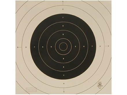 NRA Official International Pistol Targets Repair Center B-19C 25/50 Yard Slow Fire Paper Package of 100