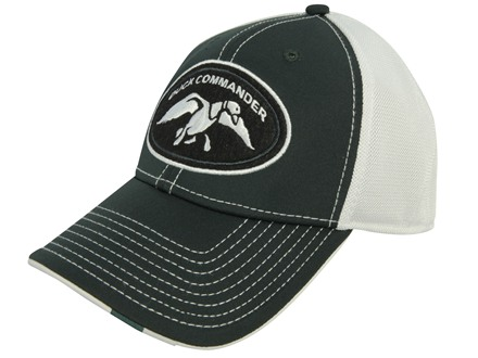 Duck Commander Mesh Logo Cap Cotton Polyester Blend Green and White