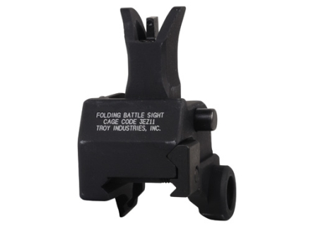 Troy Industries Front Flip-Up Battle Sight M4-Style with Tritium AR-15 Gas Block Height Aluminum Black