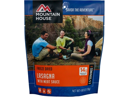 Mountain House Lasagna with Meat Sauce Freeze Dried Meal 4.8 oz