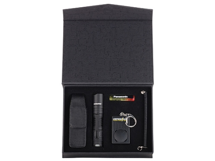 Brite Strike Lightning Strike Personal Protection System Flashlight and Personal Alarm Combo and Leather Case