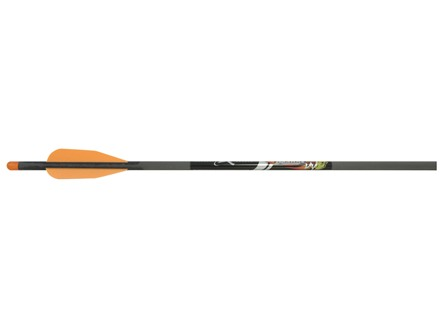 "Carbon Express Mayhem 20"" Carbon Crossbow Bolt with Half Moon Nocks Black Pack of 6"