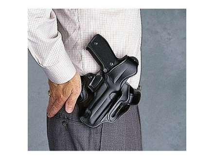 Galco COP 3 Slot Holster Left Hand Glock 26, 27, 33 Leather Black