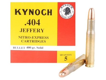 Kynoch Ammunition 404 Jeffery 400 Grain Woodleigh Weldcore Solid Box of 5