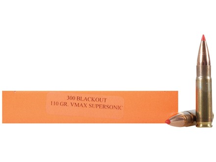 HSM Ammunition 300 AAC Blackout 110 Grain Hornady V-Max Box of 20