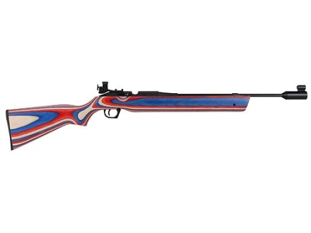 Avanti 888 Medalist Air Rifle 177 Caliber Red, White and Blue Laminated Wood Stock Blue Barrel