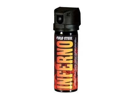 Cold Steel INFERNO Pepper Spray 8% OC and 2% Black Pepper Foam Black