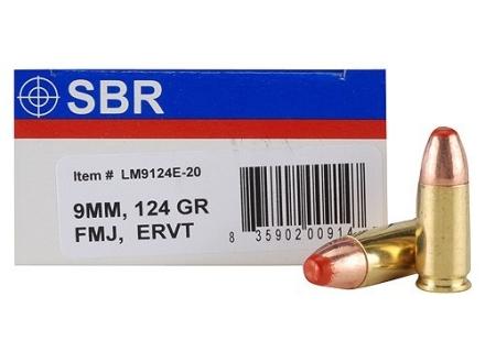 SBR LaserMatch Tracer Ammunition 9mm Luger 124 Grain Full Metal Jacket ERVT Box of 20