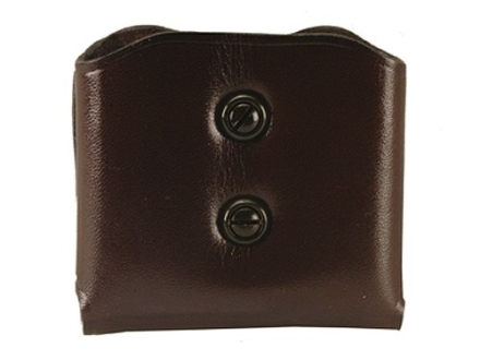 Galco DMC Double Magazine Pouch 45 ACP, 10mm Single Stack Magazines Leather Brown