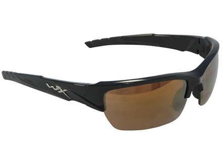 Wiley X Black Ops WX Valor Sunglasses Bronze Flash Lens