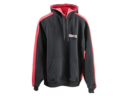 "Springfield Armory Hooded Sweatshirt Cotton Black and Red Large (44"")"
