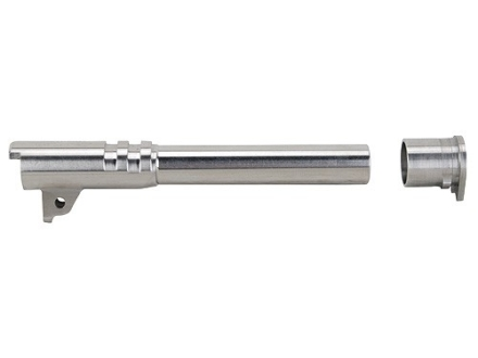 "Nighthawk Custom Match Grade Barrel with Bushing 1911 Government 45 ACP 1 in 16"" Twist 5"" Stainless Steel"
